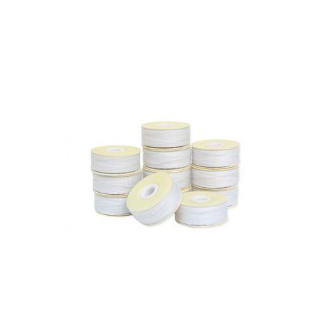 Prewound M-Style Bobbins -  Bonded Nylon #69 White