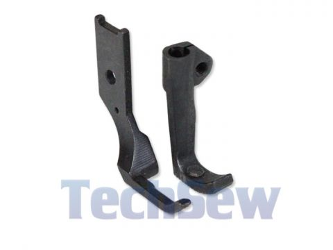 Left Toe Zipper Foot with Teeth for Compound Walking Foot Machines