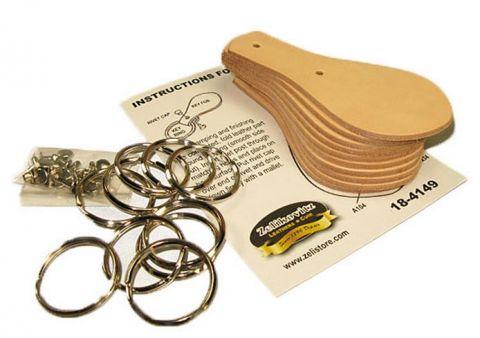 Leather Key Fob Kit 10 Pack