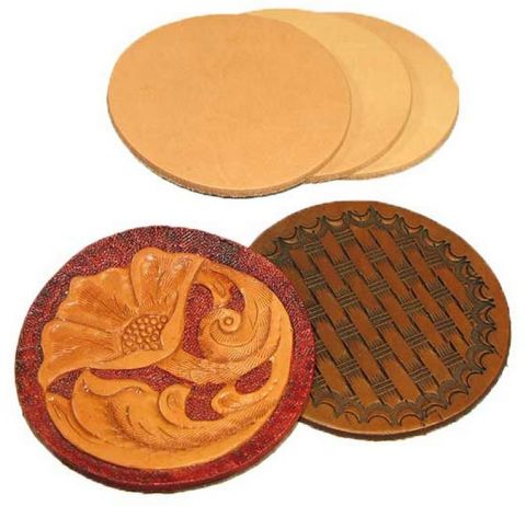 """Leather Rounders 3-1/8"""" 3 pack"""