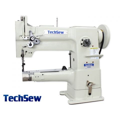 Techsew 2600-B Pro Narrow Cylinder Leather Industrial Sewing Machine with Binding Kit, Binding Attachment